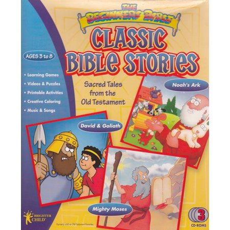 Classic Bible Stories for Kids (3 CDRom Set) Tales from the Old Testament - Noah's Ark + David & Goliath + Mighty Moses Digital Camera Solution Cd Rom