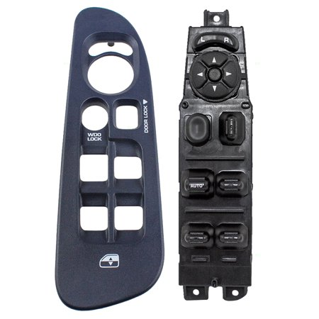 Driver Front Power Window Master Switch Dark Blue Bezel Replacement for 02-05 Dodge Ram Pickup Truck