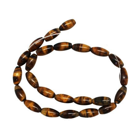 Honey Brown Marble Oval Tube Bead Strand (8 x 17mm) - Jewelry Beads
