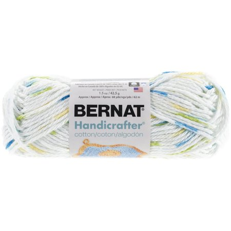 Handicrafter Cotton Yarn, Ombres, Summer Print, Single Ball, Gauge: 4 -  medium Worsted, 100% Cotton By Bernat Ship from US