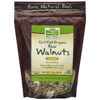 Now Foods - Real Food, Certified Organic Raw Walnuts, Unsalted, 12 oz (340 g), Pack of 2