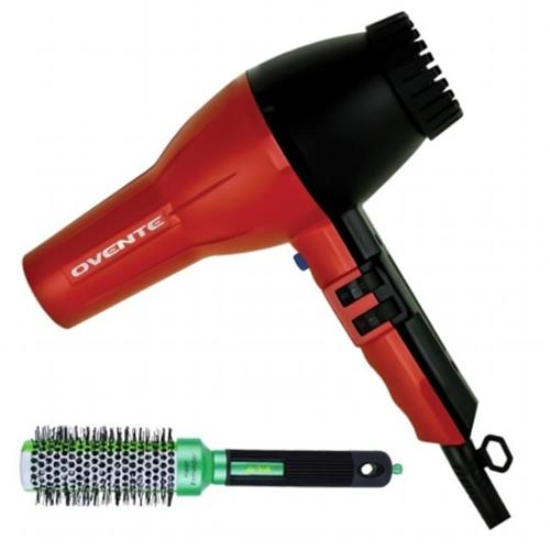 Ovente 3600 Ionic Tourmaline Professional Hair Dryer with Heat Resistant Brush