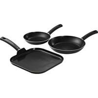Tramontina Gray Sauté and Griddle Pan Set, 3 Piece