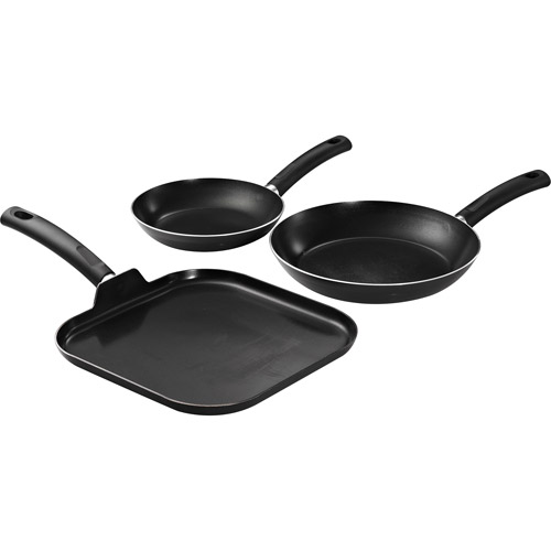 Tramontina 3-Pack Saute and Griddle Pan Set, Gray
