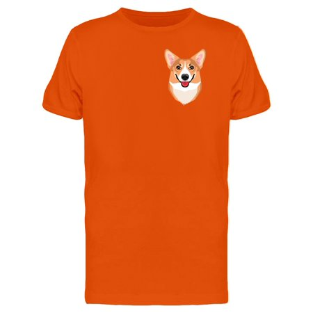 Happy Welsh Corgi Upperside Tee Men's -Image by Shutterstock - Happy Halloween Corgi
