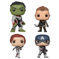Funko POP! Marvel Avengers Endgame Collectors Set 1 - Hulk, Hawkeye, Captain America, Black Widow
