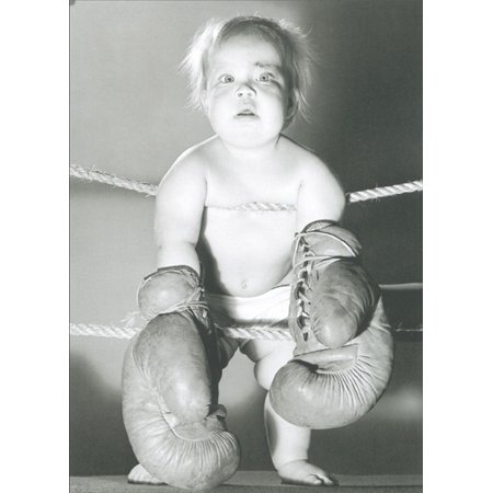Boxing Fighter - Graphique de France Prize Fighter Baby Wearing Boxing Gloves Birthday Card
