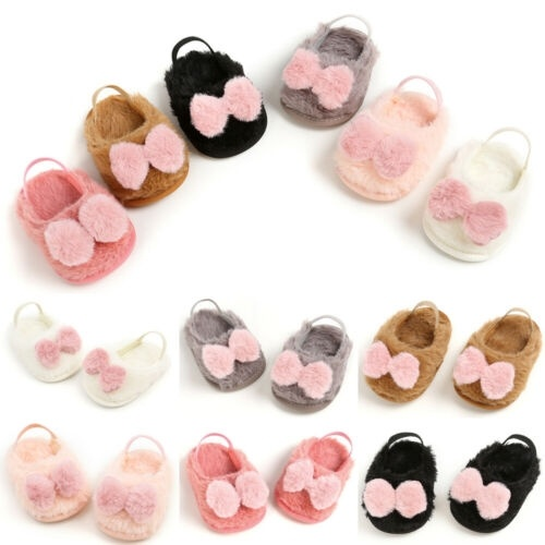 Newborn Cute Baby Boy Girls Sandals Bow Toddler Infant Soft Sole Prewalker Shoes