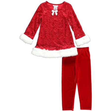 Bonnie Jean Christmas Outfits.Bonnie Jean Little Girls Toddler Yule Flowers 2 Piece Outfit Sizes 2t 4t