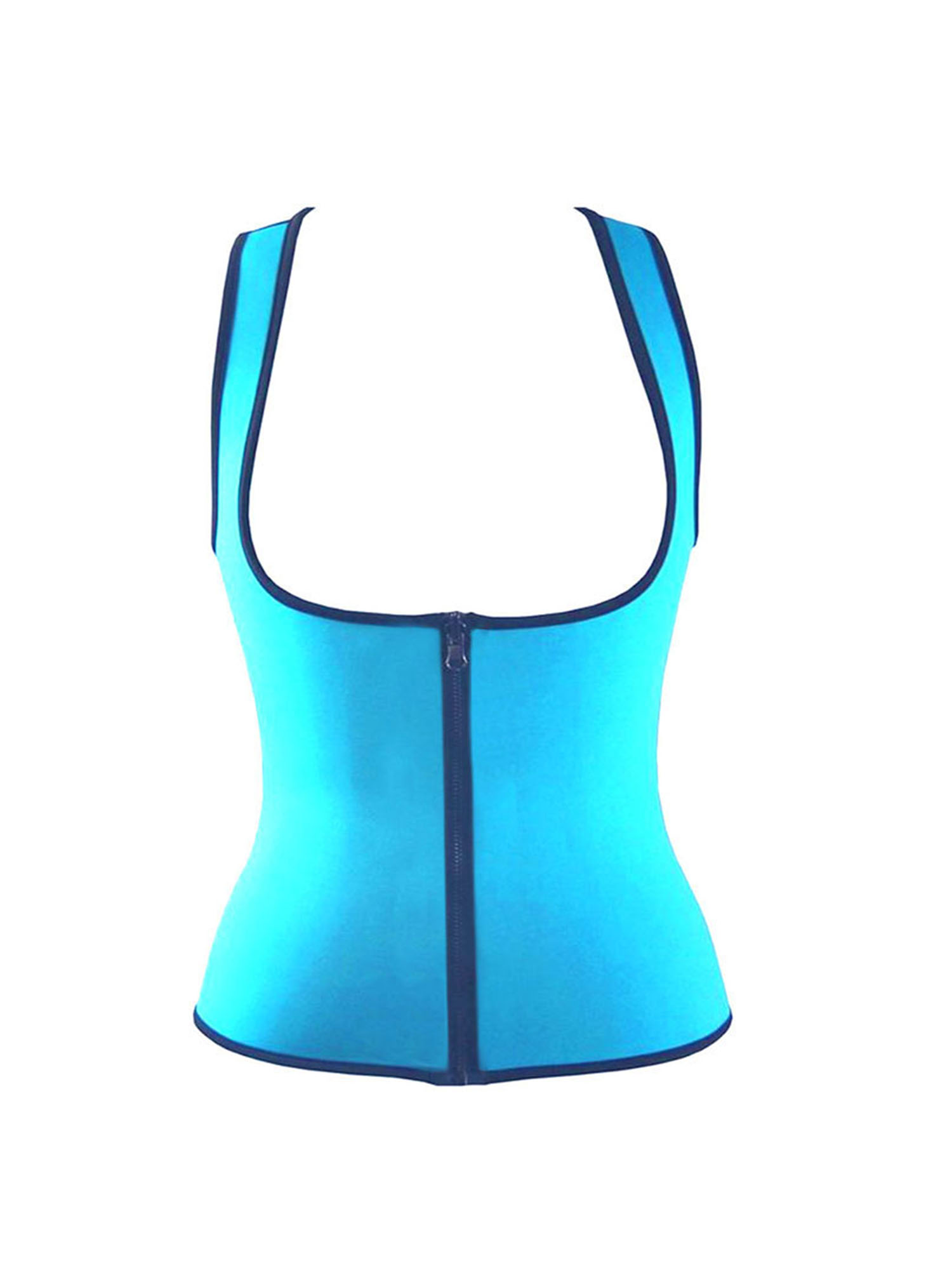 Women's Hot Sweat Slimming Neoprene Shirt Vest Body Shapers for Weight Loss With Zipper by SANUCL
