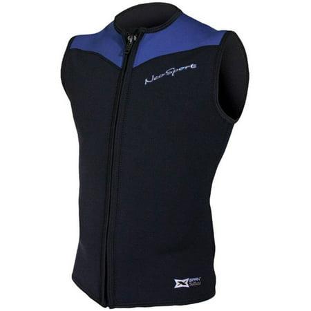 Neosport Hooded Vest (Neosport Mens 2.5mm XSPAN Sport Vest (Black,)