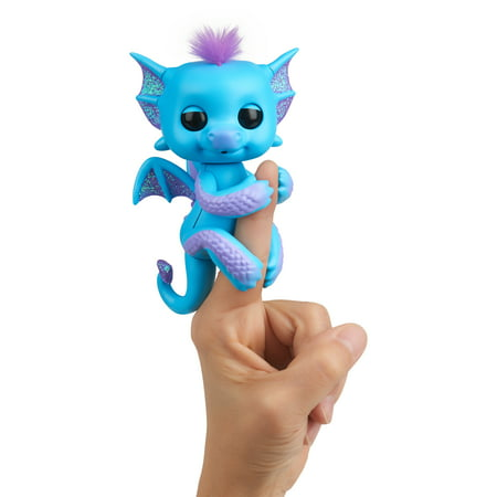 Toddler Dragon (Fingerlings - Glitter Dragon - Tara (Blue with Purple) - Interactive Baby Collectible Pet - By)