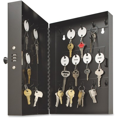 Steelmaster 28-Key Steel Security Key Cabinet Combination Locking Key Cabinet...