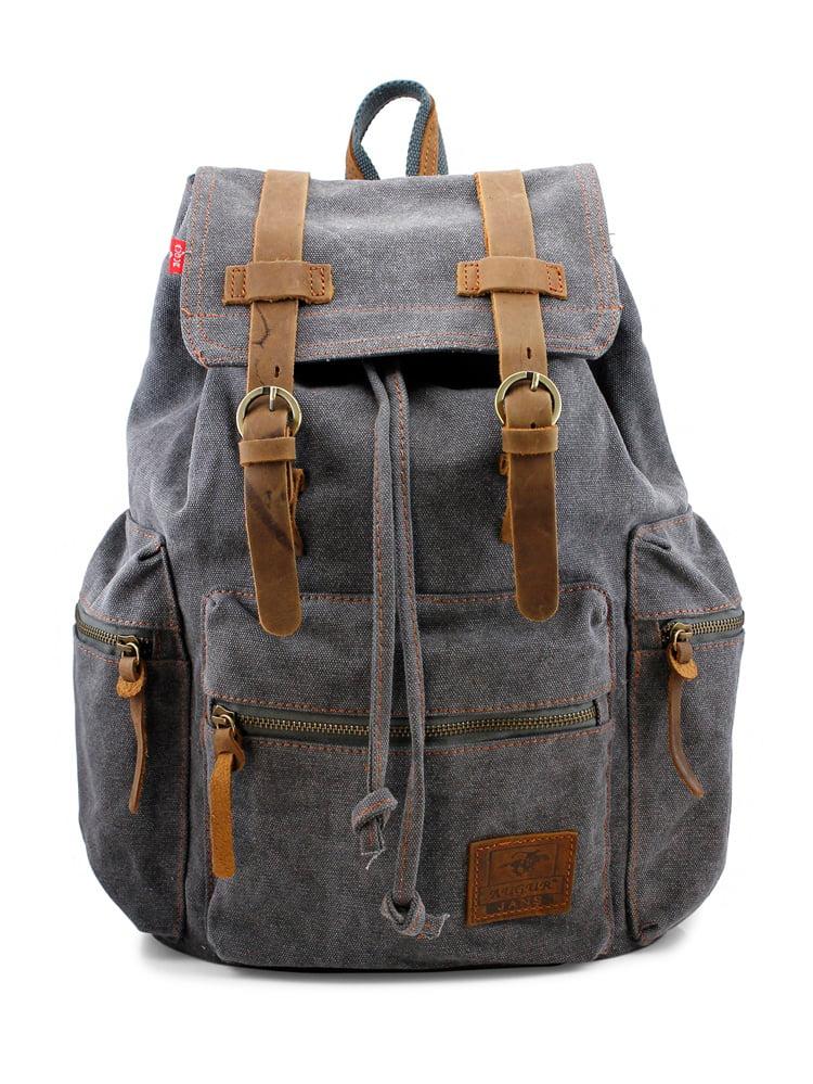 Men/'s Vintage Canvas Backpack Outdoor Rucksack Hiking Camping Bag Satchel