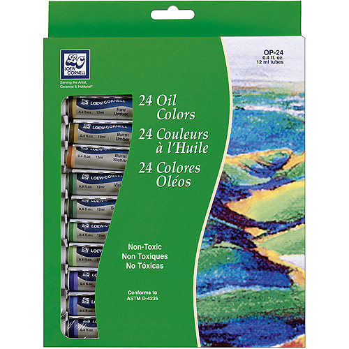 Oil Paint 12ml 24/pkg, Assorted Colors