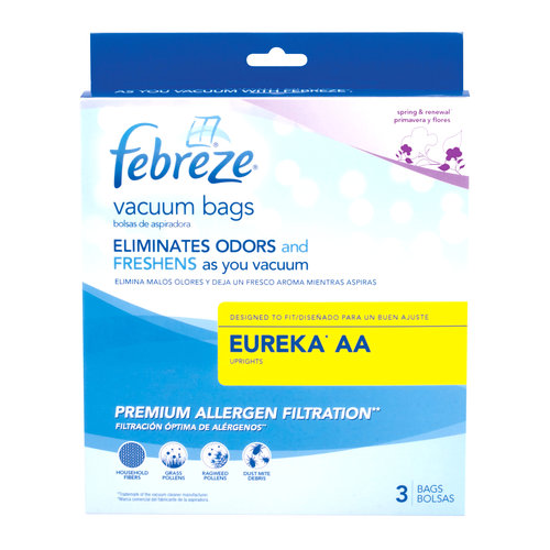 Febreze Vacuum Bags, Eureka Style AA, Pack of 3