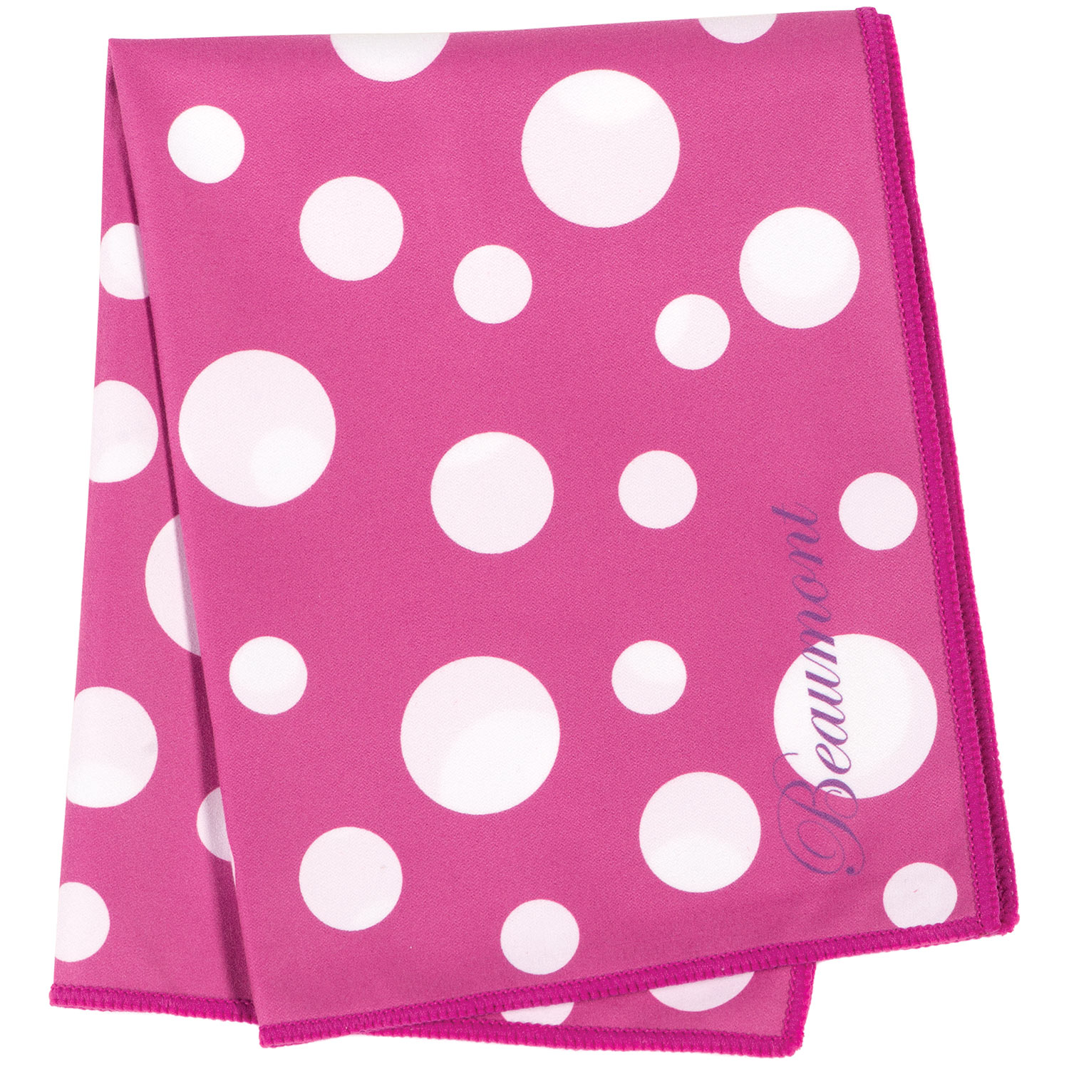 Beaumont Pink Polka Dot Microfiber Large Instrument Polishing Cloth by