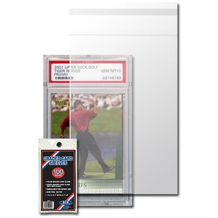 Pack Single Card - Resealable Graded Card Sleeve - 3 3/4 X 5 1/2 - (5 Pack) Baseball, Football, Basketball, Hockey, Golf, Single Sports Cards Top Load - Sportcards Card Collecting.., By BCW