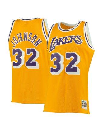 79b3bddb0fb Mitchell & Ness Swingman Lakers Magic Johnson Jersey