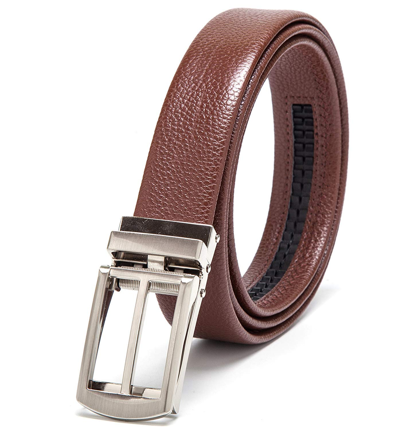 Popular Ratchet Belt for Men with Genuine Leather black Apply to Jeans and jeans Waist in inches 20 to 40