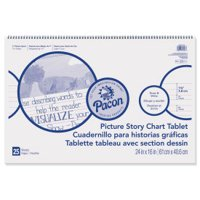 """Pacon Picture Story Chart Tablet, 1.5"""" x 3/4"""" x 1/2"""" Ruled, 24"""" x 16"""""""