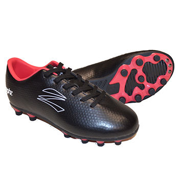 zephz Wide Traxx Black/Teaberry Soccer Cleat Adult