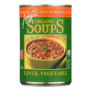 (Pack of 3)Amy's - Organic Lentil Vegetable Soup - Low Sodium - 14.5 oz