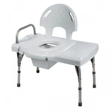 Invacare Heavy-Duty Transfer Bench with Commode Opening Seat Height 31 - 35 Inch, 1 (Invacare Heavy Duty Transfer)
