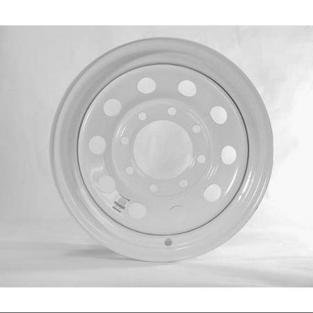 Equipment Trailer Rim Wheel 16 in. 16X6 8 Hole Bolt Lug White Modular Design (8 Rim Wheel)
