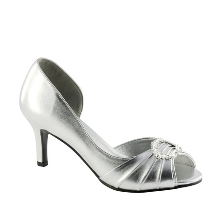 Touch Ups Womens Ivanna Pump, Silver,5 M US