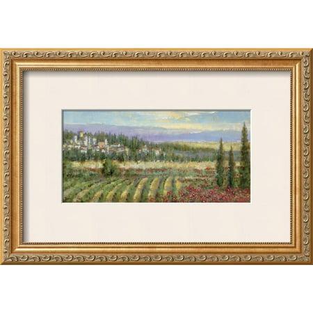 Tuscan Landscape Art (Tuscan Spring II Framed Art Print Wall Art  By Michael Longo -)
