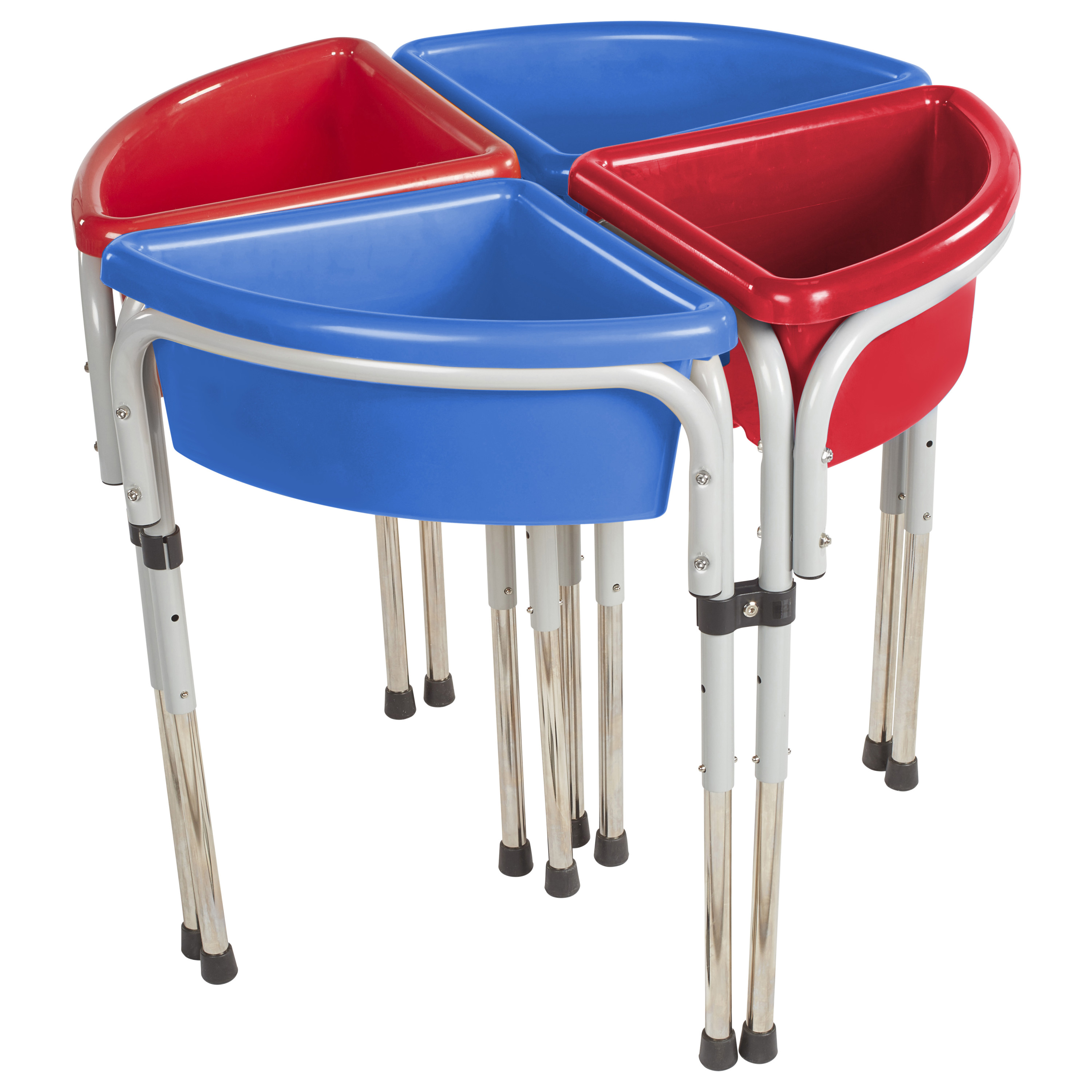 4 Station Round Sand and Water Table with Lids
