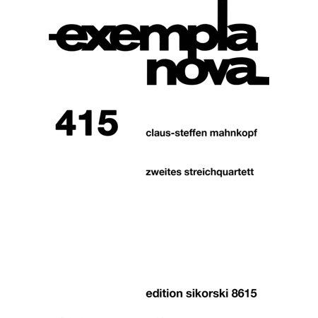Sikorski String Quartet No. 2 (Zweites streichquartett) String Ensemble Series Softcover by Claus-Steffen