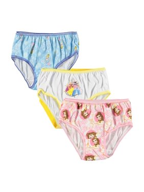 WebUndies.com Princess 3-Pack Girls Panties Rapunzel Ariel Sleeping Beauty Sizes 4,6,8 (8)