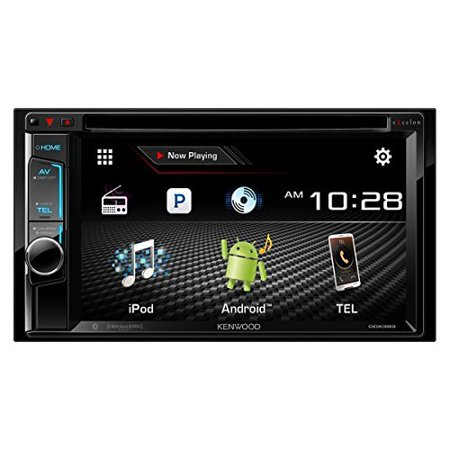 """Kenwood DDX393 6.2"""" Double DIN Multimedia Receiver With Bluetooth by"""