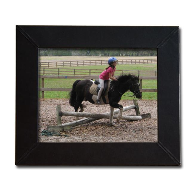 Dacasso Limited A1036 Classicblack Leather 8 X 10 Photo Frame
