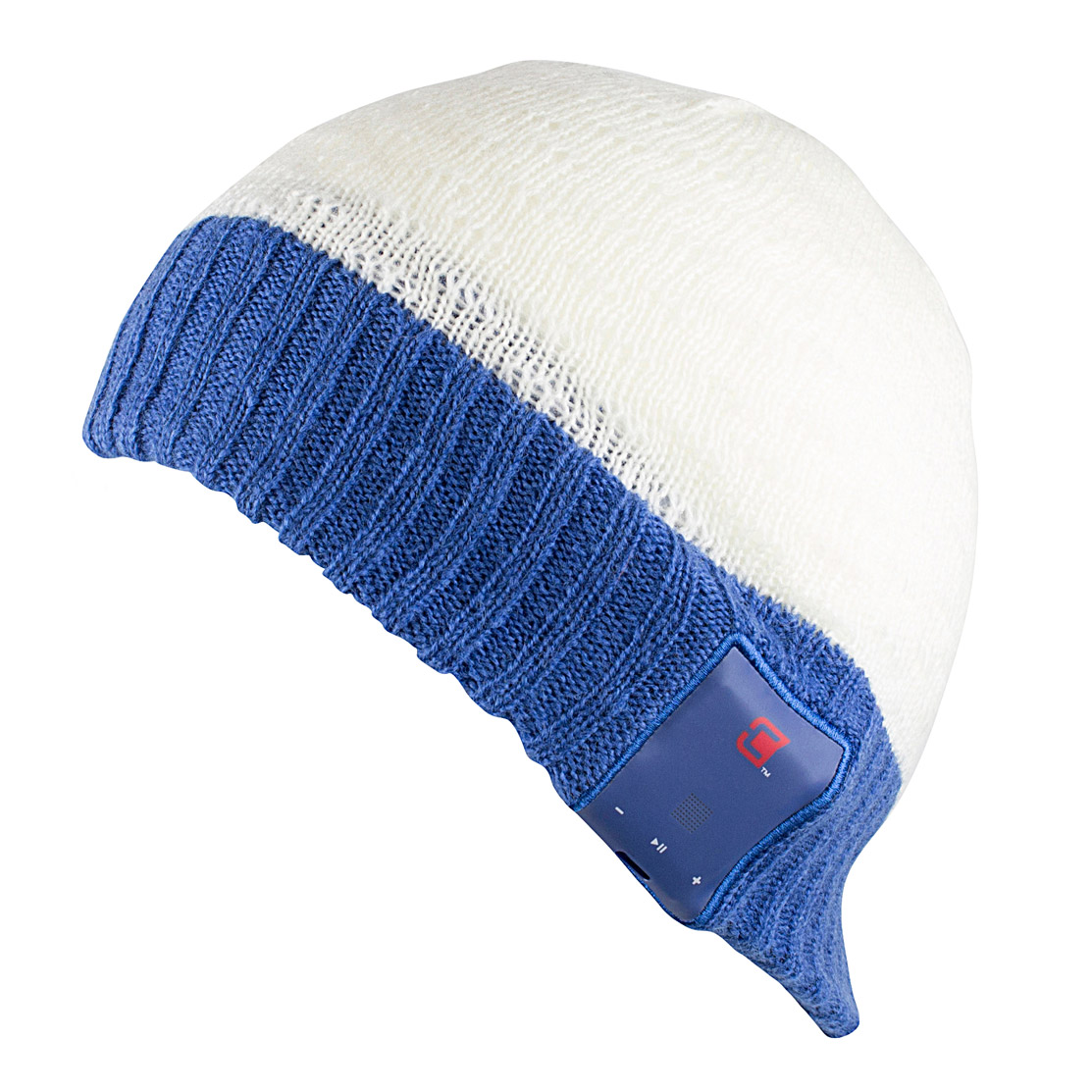 Caseco Bluetooth White and Blue Snow Hat - iPhone Samsung...