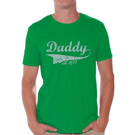 98c915db Awkward Styles - Awkward Styles Men's Daddy Est. 2017 New Daddy To Be  Vintage Graphic T-shirt Tops - Walmart.com