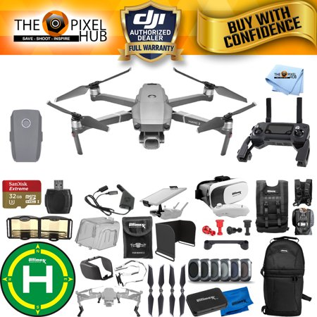 DJI Mavic 2 Pro Ultimate Accessory Bundle with 32GB Micro SD, Sling Backpack, Filter Kit, Drone Vest, Landing Pad + MUCH MORE