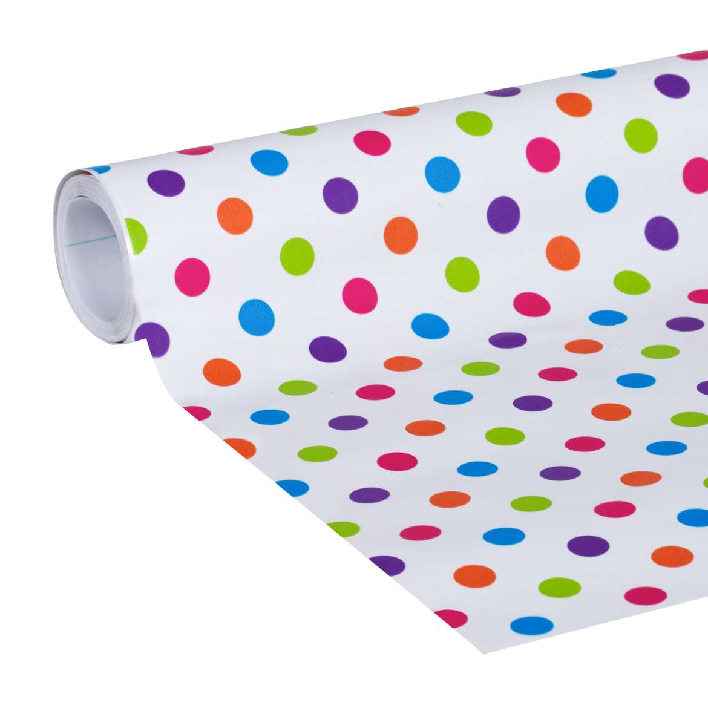 "Duck Brand Deco Adhesive Laminate Shelf Liner, 20"" x 10', Polka Dot"