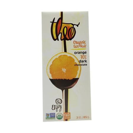 Organic Fair Trade Orange (70%) Dark Chocolate Bar, 3 oz