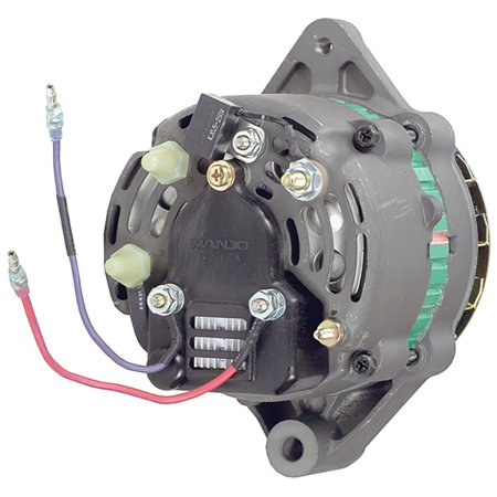 New Alternator for 5.7L Mercruiser Model 5.7LX 97 1997 AC155616, 807652, 807652T, 807652, 600118, 3860769 55Amp External Fan Type Solid Pulley Type Internal Regulator 12V
