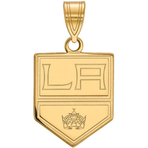 LogoArt NHL Los Angeles Kings 14kt Gold-Plated Sterling Silver Medium Pendant