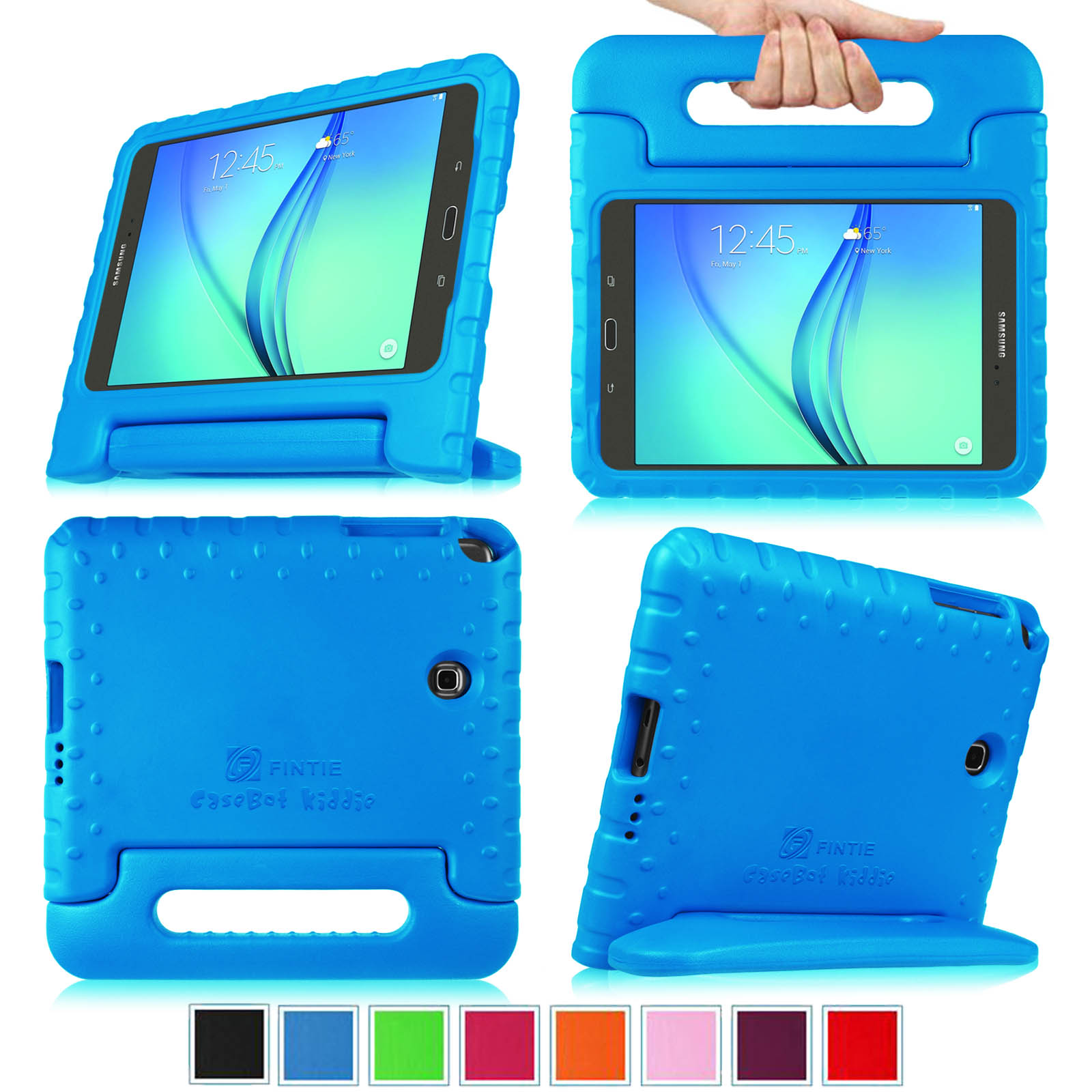 Samsung Galaxy Tab A 8.0 Inch SM-T350 Tablet Kiddie Case - Fintie Lightweight Shock Proof Handle Stand Cover, Blue
