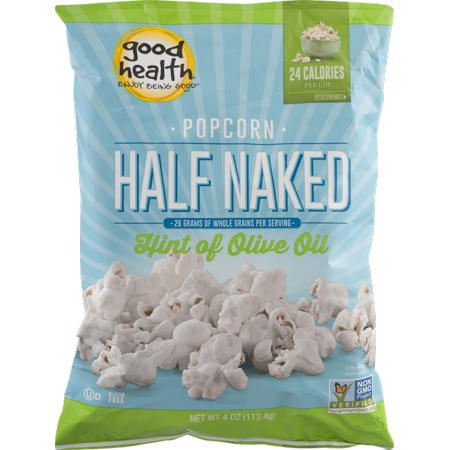 Good Health Half Naked Popcorn with Hint of Olive Oil 4 oz. Bag (8 Bags) ()
