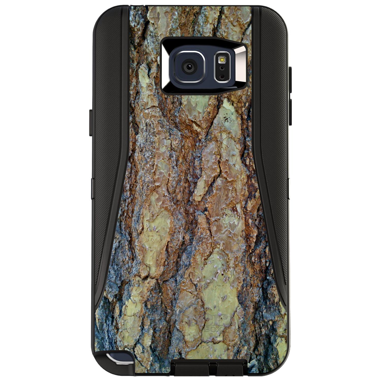 CUSTOM Black OtterBox Defender Series Case for Samsung Galaxy Note 5 - Yosemite Redwood Bark