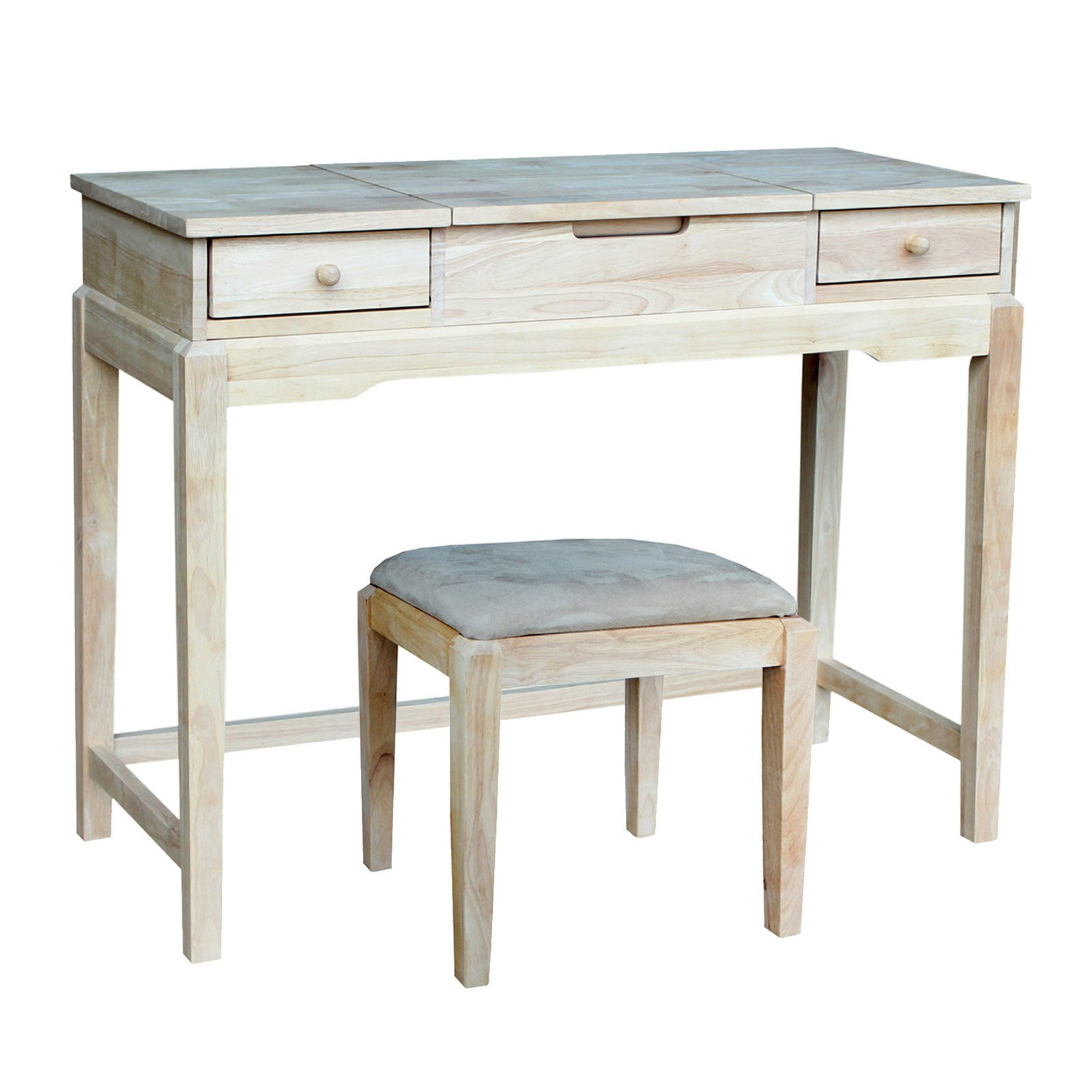 International Concepts Vanity Table with Bench