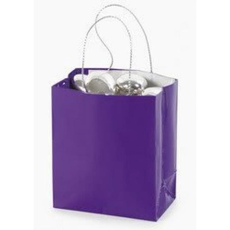 Mini Purple Gift Bag (2 dozen) - Bulk [Toy]](Paper Gift Bags Bulk)