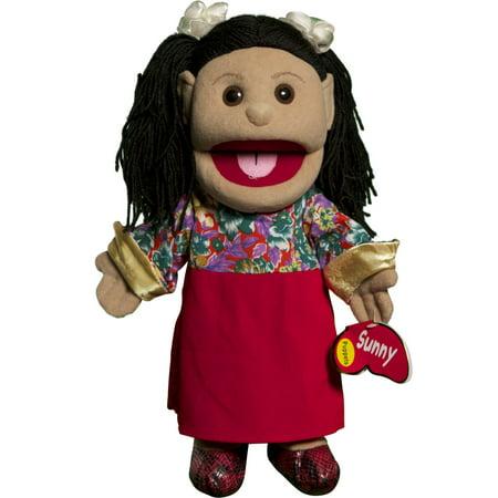 Sunny Toys GL1576 14 In. Hispanic Girl In Dress, Glove Puppet - image 2 of 2