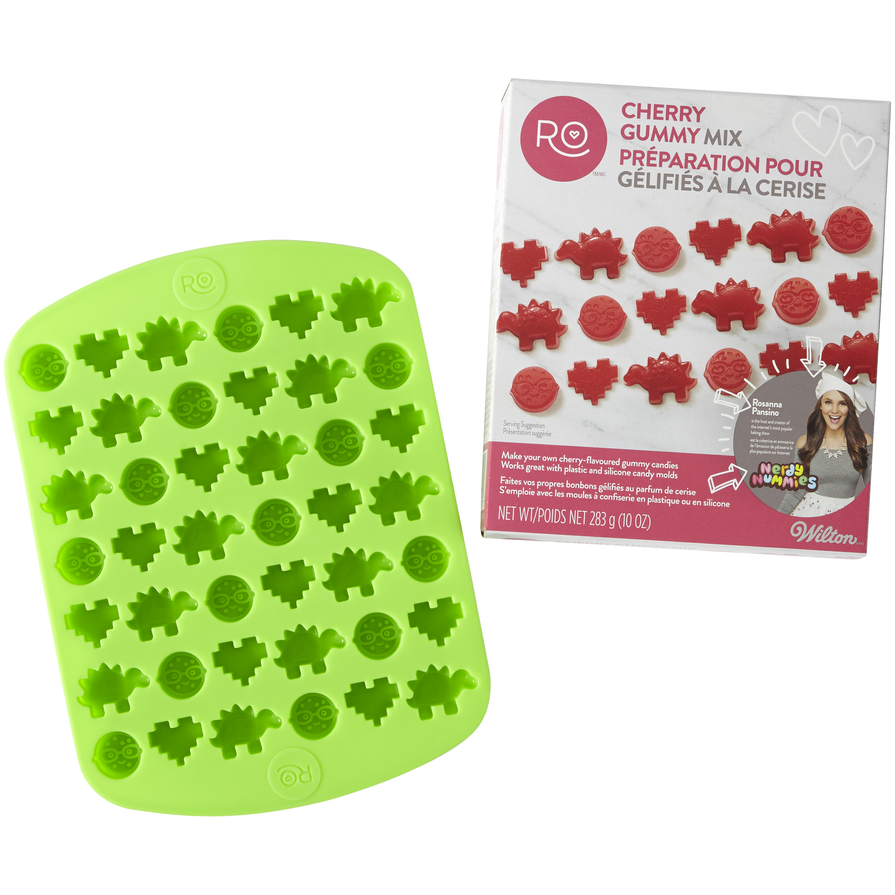 Wilton Rosanna Pansino Nerdy Nummies Cherry Gummy Mix Set